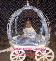 "White Small Angel with 36"" hoop top"