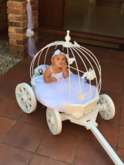 Ivory Small Angel Carriage