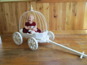 White Small Angel Carriage