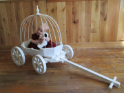 Small Angel Carriage, in white