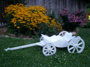 White Charming Carriage- aluminum wheel bands no longer available