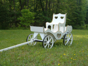 Princess Carriage, white with gold trim and throne seat