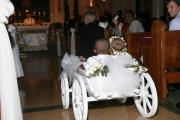 White Large size flower girl pumpkin wagon