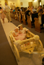 Ivory Large size flower girl pumpkin wagon