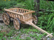 Medium unfinished pumpkin wagon