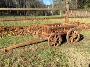 Medium Flower Girl Pumpkin Wagon, in light brown stain