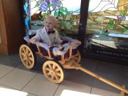 Small Pumpkin Wagon, in Dark Brown Stain