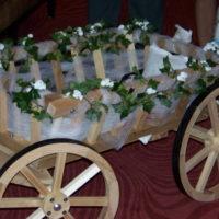 Large Flower Girl Pumpkin Wagon