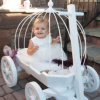 angel carriage painted white