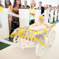 Large Flower Girl Pumpkin Wagon