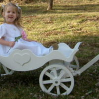 Royal Carriage painted white