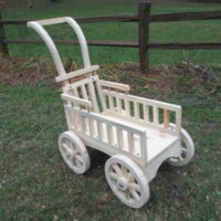 Graceful Push Carriage- unfinished & paint ready 010