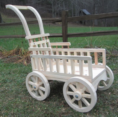 Graceful Push Carriage- unfinished & paint ready 001