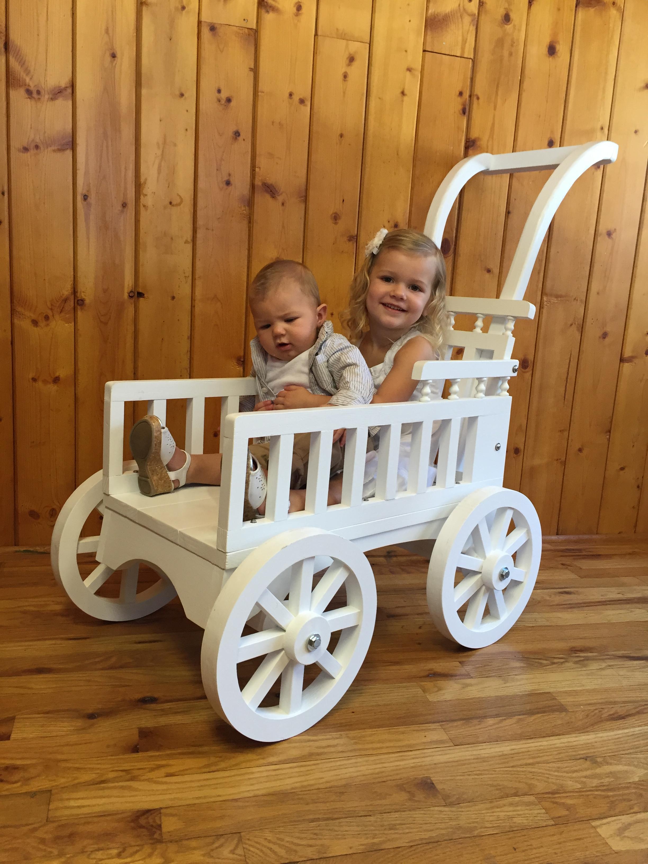 Graceful Push Carriage | Mini Wedding Wagons