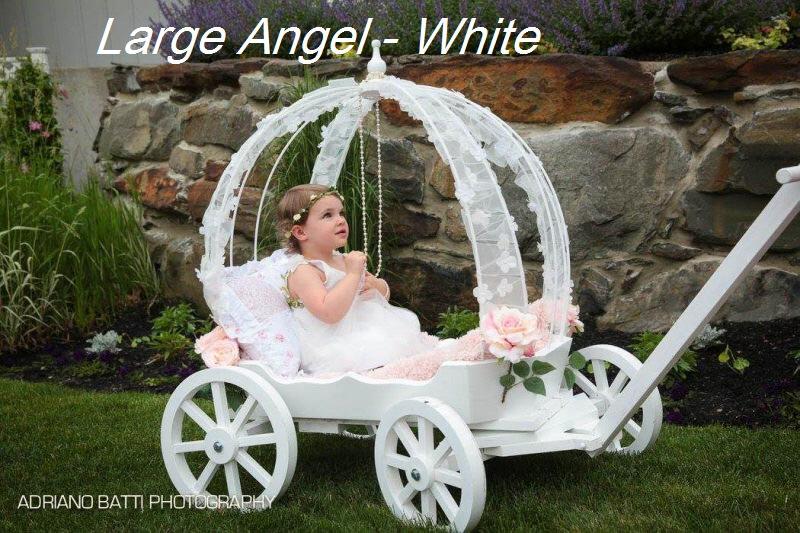 Large Angel Carriage | Mini Wedding Wagons