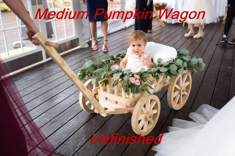 Medium Flower Girl Pumpkin Wagon | Mini Wedding Wagons