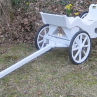 Princess Carriage with rubber wheel rims