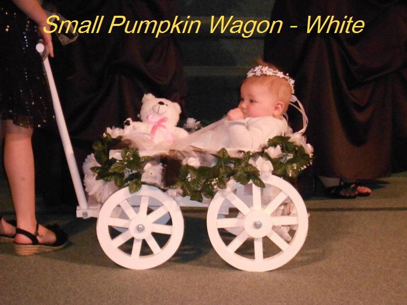 Small Flower Pumpkin Wagon