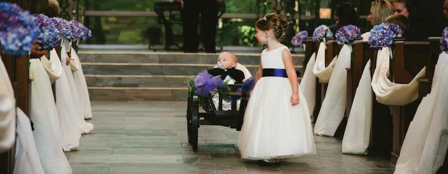 Flower girl wagon ring bearer carriage infant wagon