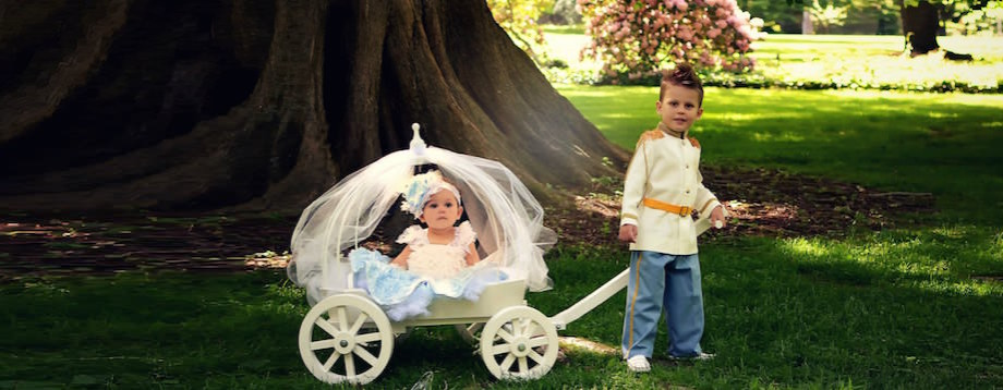 princess carriage flower girl wagon