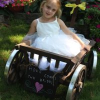 Medium Flower Girl Pumpkin Wagon