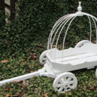 angel carriage painted white, with hoops