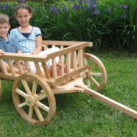 Extra Large Flower Girl Pumpkin Wagon