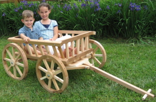 Extra large unfinished flower girl wagon