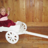 angel carriage painted white with backrest