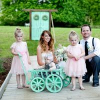 Small Flower Girl Pumpkin Wagon