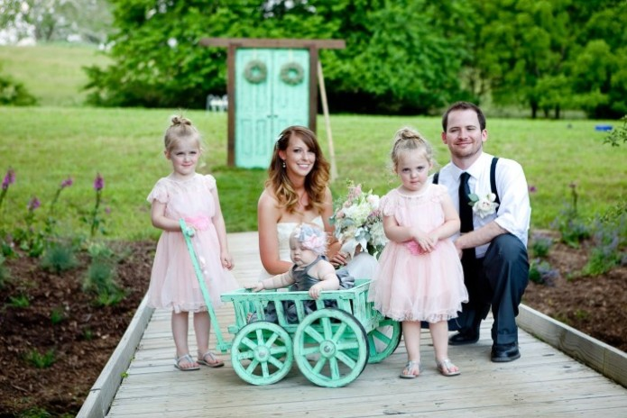 Small Flower Girl Pumpkin Wagon Mini Wedding Wagons
